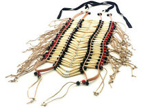 Handmade Traditional Large Buffalo Bone Hairpipe Beads Tribal Breastplate