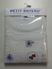 NEW - Set of 2 - Petit Bateau Boys T-Shirt Crew Neck - White - 12 Years - Cotton