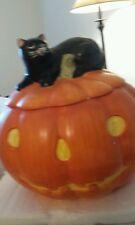 David Carter Brown Collection Pumpkin Hollow Hand Painted Sakura Cookie Jar