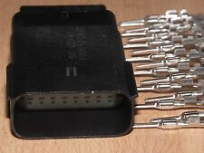Harley Davidson OEM 16 Wire BLACK MALE Molex MX150 connector + terminals