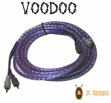 VOODOO 6.4 ft 2 Meter RCA INTERCONNECT cable PURPLE