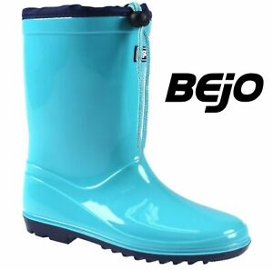 Boys Kids Waterproof Puddle Wellies Winter Rain Snow Wellington Boots Shoes Size