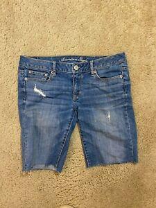 AE American Eagle Midi Stretch Denim women jean Shorts size 6