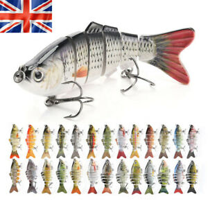 Fishing lures Multi Jointed Realistic Pike Predator Spinner Swimming Lure