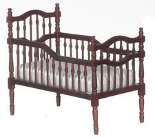 Dolls House Mahogany Victorian Babys Cradle Crib Cot Miniature Nursery Furniture