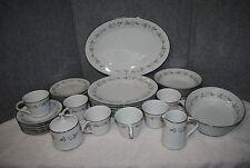 """35pc.Noritake """"Lillian"""" Dinnerware Set of Fine Porcelain China #6662 Vtg.1960's"""