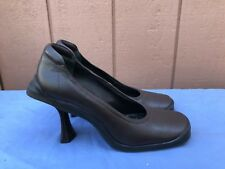 GAY GIANO 35 US 5 Brown Leather Fashion Pumps Heels $190 A4