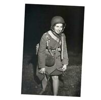 War Photo Betty Hoefler member of the first contingent of WACs WW2 4x6 N