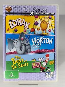 Dr Seuss Cartoon - The Lorax / Horton Hears A Who / Best (DVD, 2012, 3-Disc Set)