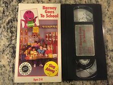 BARNEY GOES TO SCHOOL OOP VHS! NOT ON DVD 1990 PBS KIDS CHILDRENS EDUCATIONAL!