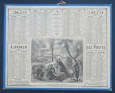 Calendrier Almanach Oberthur 1879 Militariat manoeuvre calendar Kalender