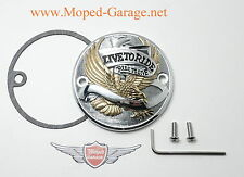 Harley Point Cover Free Eagle Chrom Gold Big Twin EVO Motor Deckel Adler Neu*