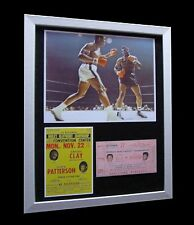 MUHAMMAD ALI+CASSIUS CLAY+Patterson 1965+LTD+FRAMED+EXPRESS GLOBAL SHIPPING!!