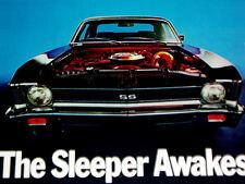1969 CHEVY NOVA SS ORIGINAL AD-poster/print/picture/BIG BLOCK 396 V8 ENGINE/350