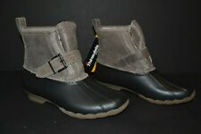 New SPERRY Top-Sider Rip Water Rain Boots Black/Graphite - Women's US 8M