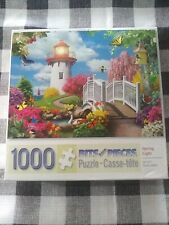 "Bits and Pieces 1000 piece jigsaw puzzle - ""Spring Light"" EUC COMPLETE"