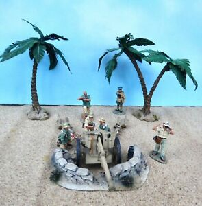 king & country AK027+++ 54mm ww2 German 10.5CM gun& crew & Rommel++ 2005 PREoop