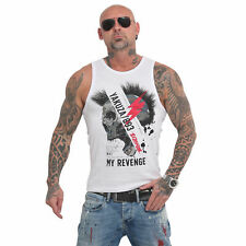 "Yakuza 893 Tank Top ""Skull Revenge"" | blanco (16036) señores inscripciones camisa muscular"