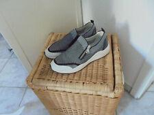 GEOX Respira aktuelle trendy Sneaker, schwarz/weiß, Slipper/Halbschuhe, Gr.38