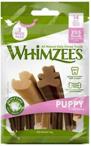 WHIMZEES Puppy 2-9KG XS/S - 14 Pieces Natural Dental Dog Chews Long Lasting