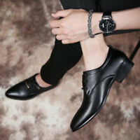 Men's Leather Shoes Formal Casual Dress Lace up Oxfords Wing Tip Wedding Brogue
