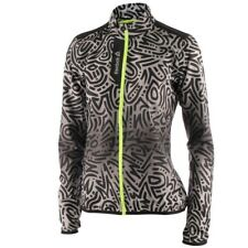 Womens, Ladies New Reebok Running Fitness Gym Track Jacket Coat - Black Grey