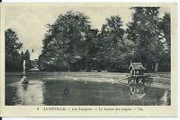 CPA  54 - LUNEVILLE - les Bosquets - le bassin des cygnes