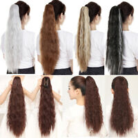 NEW Synthetic Deep Curly Claw Ponytail Curly Thick Long Pony Tail Hair Extension