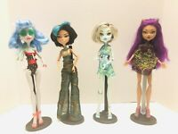 Monster High 2012 High Skull Shores Ghoulia Frankie Clawdeen Cleo Dolls - RARE!
