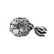 PANDORA Topaz Blue Angel Fish Charm 791108TPP S925 ALE Sterling Silver Charm