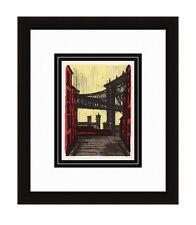 "Remarkable 1967 Bernard BUFFET Color Lithograph ""Famous NY Bridges"" FRAMED COA"