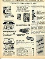 1964 Print Ad of Lyman Ammunition Maker Set, Quick Load & Bullet Casting Set