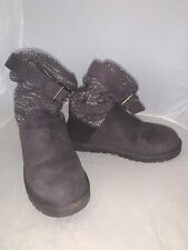 Gray Size 8 Uggs With Silver Sequence