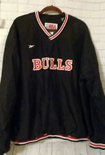 Men's 1990's Size XL Chicago Bulls Reebok V Neck Pullover Jacket Outerwear