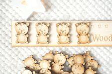 25 x Teddy Bear in legno forme Craft Scrapbooking MDF Legno Baby Card Making