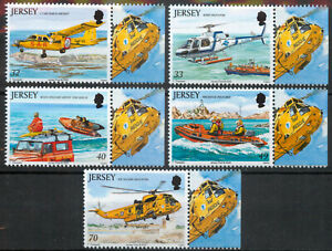 Jersey 2005 Rescue Craft aviation boats set SG 1185-1189 MNH mint *COMBINED POST