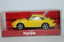 Porsche 911 ( 993 )  Carrera S4  gelb  Herpa  1:87