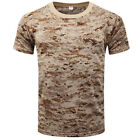 Men Tactical Military Army Camouflage Short Sleeve T Shirt Summer Tee Shirt Tops