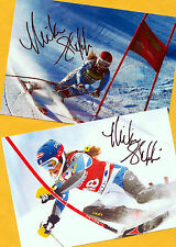 Mikaela shiffrin - 2 top autógrafo-imágenes (4) - Print copies + ski ak firmado
