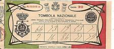 LOTTERIA / TOMBOLA NAZIONALE a beneficio LEGA NAVALE ITALIANE e IND.FEMMINILI