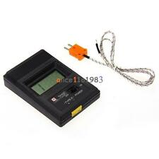TM902C Digital LCD Thermometer Temperature Reader Meter Sensor K Type Probe