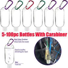 Refillable Empty Plastic Bottle With Key Ring Travel Sanitizer Bottle 50ml
