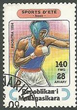 Madagascar Scott# 1265, Sports, Boxing, 140fr, Used, 1995