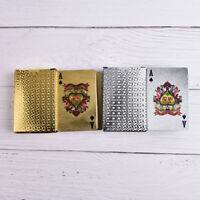Waterproof Silver Plastic 3D Embossing Poker Cards Advanced Plastic Playing TBO