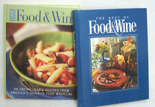 Food & Wine: Entire Year's Recipes1995 & The Best of Food & Wine-Lot of 2 Books