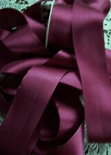 "100% PURE SILK SATIN RIBBON [36MM] 1 1/2"" WIDE BURGUNDY 3 YDS"