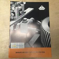 Vtg W Ferd Klingelnberg Sohne Brochure Involute Helix Tester PFSU 1200 Catalog