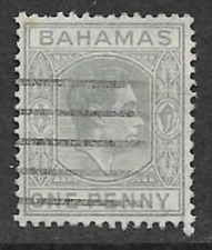 BAHAMAS ISSUE, USED STAMP 1938 - KGV1 DEFINITIVE - HEAD OF STATE - 1d