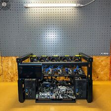 "6x GPUs Mining Rig (7"" LCD,  MoBo, HiveOS Win10, 2x EVGA PSU, Fans) NO GPUs"