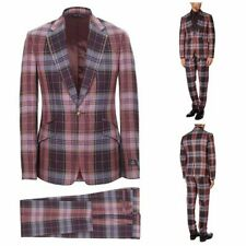 One Button Checked Slim Suits & Tailoring for Men